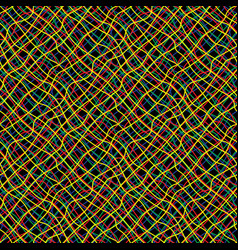 Intricate colored wires abstract seamless pattern vector