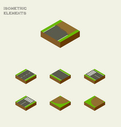 Isometric way set of turning turn cracks and vector