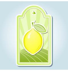 Lemon tag design vector image