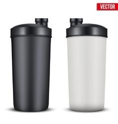 Mockup plastic sport nutrition drink bottle vector