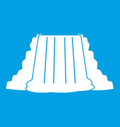 Niagara falls icon white vector