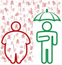 Obesity dangers vector