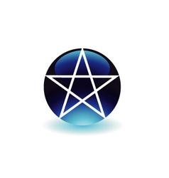 Pentagram- religious symbol of satanism vector