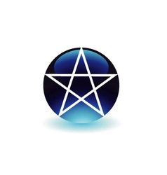 Pentagram- Religious symbol of satanism vector image vector image