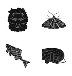 Picnic rest tourism and other web icon in black vector