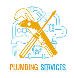 plumbing services icon vector image vector image