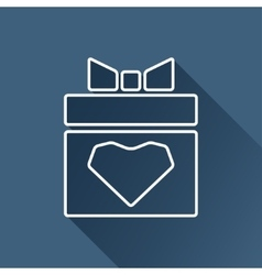 present with heart icon Eps10 vector image vector image