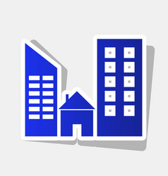 Real estate sign new year bluish icon vector