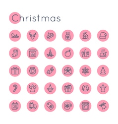 Round christmas icons vector