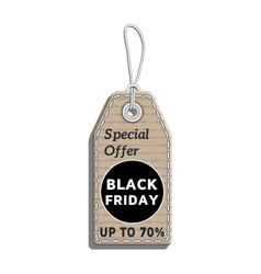 sale tag design on the theme of black friday sale vector image