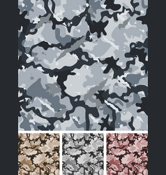 seamless complex military night camouflage vector image vector image