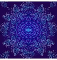 Seamless dark blue christmas pattern vector