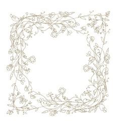 Sketch of floral frame for your design vector image