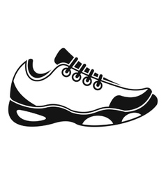 Sneakers for tennis icon simple style vector image