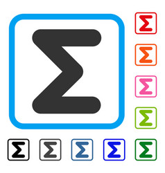 Sum framed icon vector