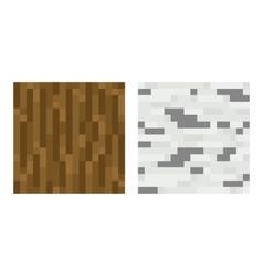 Texture for platformers pixel art - brown vector