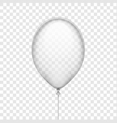 transparent white rubber balloon isolated on vector image vector image