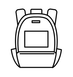 travel bag isolated icon vector image vector image