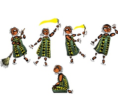 Young African Girl vector image vector image