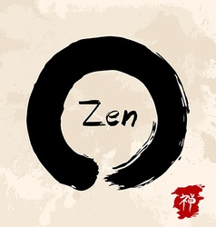 Zen circle traditional enso vector