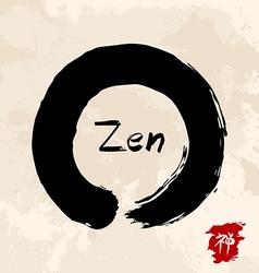 Zen circle traditional enso vector image vector image