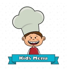 Boy kids menu food vector