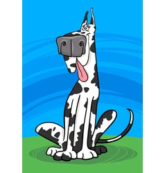 Harlequin dog cartoon vector