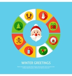 Winter greetings infographic concept vector