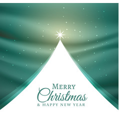 Beautiful christmas tree design for festival vector