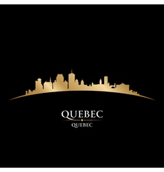 Quebec canada city skyline silhouette vector