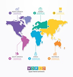 World Infographic Template jigsaw concept vector image