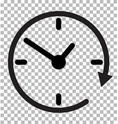 24 hours sign transparent background 24 hours vector image