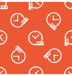 Orange overnight daily workhours pattern vector