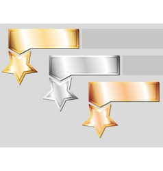 Metal stars vector