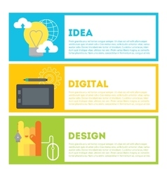 Designers process of work from idea to result vector