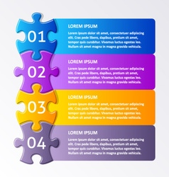 Colorful puzzle design template vector