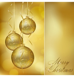 Abstract golden christmas postcard vector