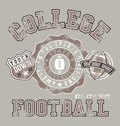 american college athletic football vector image