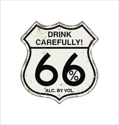 most popular road sign vintage rust for the bar vector image