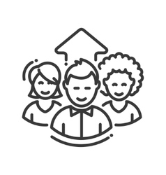 Business team work single icon vector