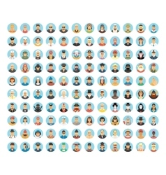 People avatar collection flat icons of people vector