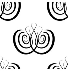 abstract black and white damask seamless vector image
