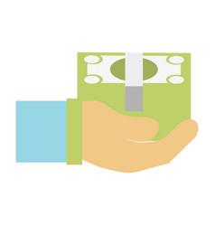 bill cash money in the hand vector image vector image