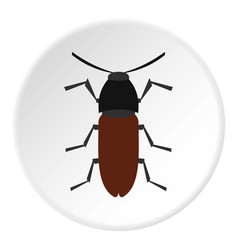 Brown bug icon circle vector