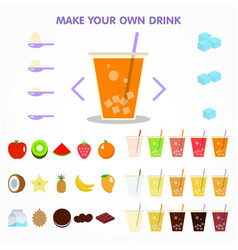 Bubble drink juice creator for apps design vector