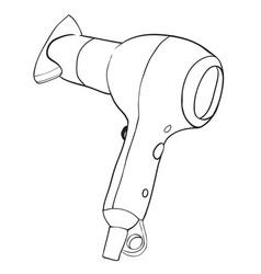 Cartoon image of hair dryer vector
