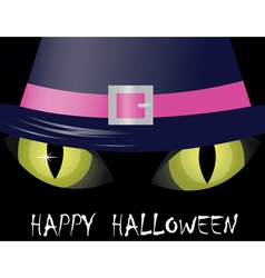 cat eyes halloween vector image vector image