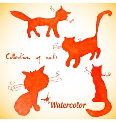 Collection of four cats vector image vector image