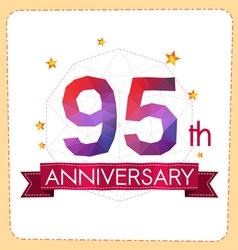 Colorful polygonal anniversary logo 2 095 vector