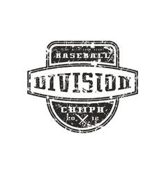 Emblem baseball division vector